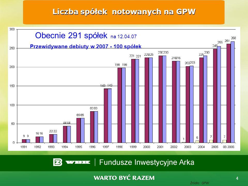 3 Warszawski Indeks Giełdowy WIG 1991 - 2007