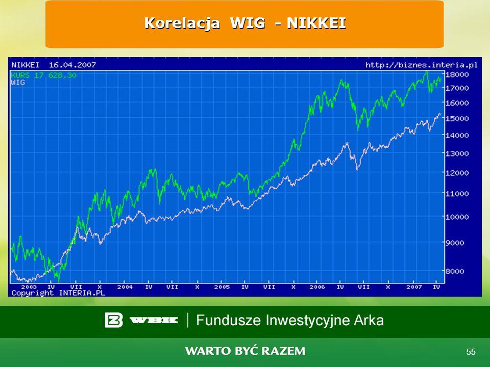 54 Korelacja WIG - DJIA
