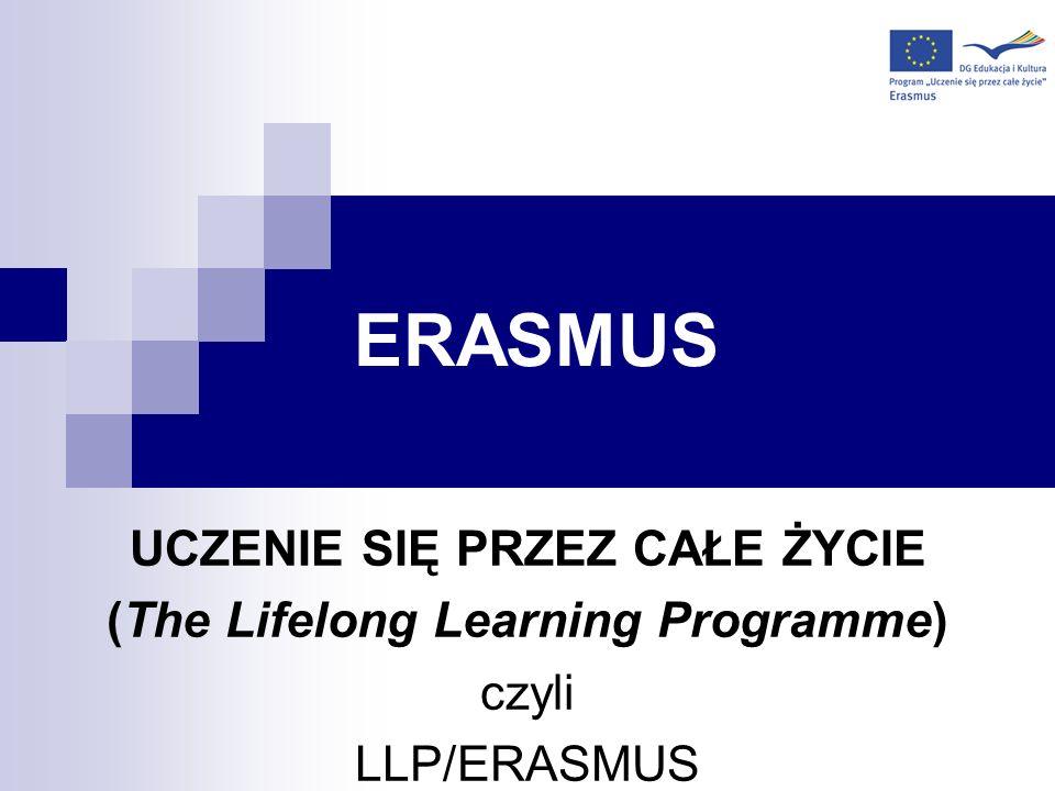 ERASMUS UCZENIE SIĘ PRZEZ CAŁE ŻYCIE (The Lifelong Learning Programme) czyli LLP/ERASMUS