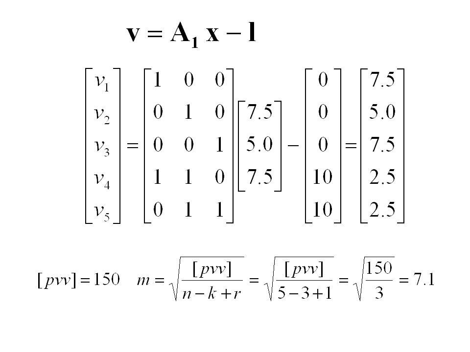 1.20.00075 2.30.00050 3.40.00075 4.50.00125 5.70.00125 x = 20.00075 y = 30.00050 z = 40.00075 Wyrównane Niewiadome Spostrzeżenia