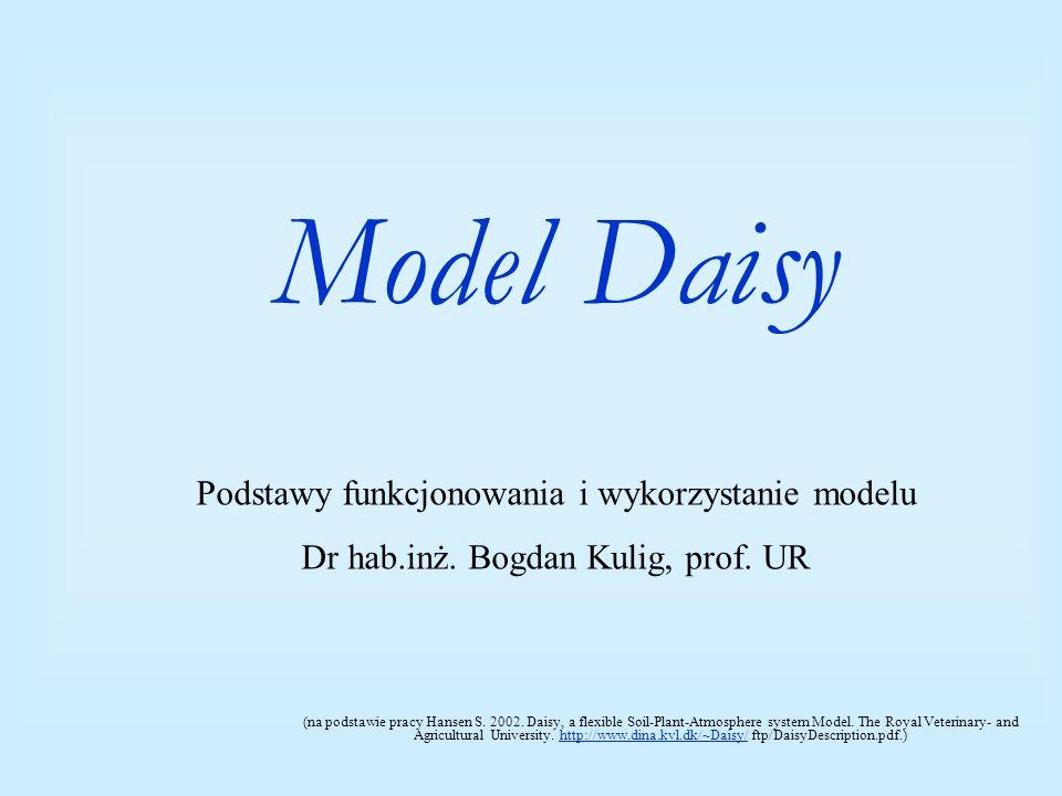 Ocena (walidacja) działania modeli Porównanie symulacji wykonanych przy pomocy różnych modeli w tych samych warunkach siedliskowych Porównano wyniki symulacji uzyskane przez 19 uczestników warsztatów modeleowanie agroekosystemów.