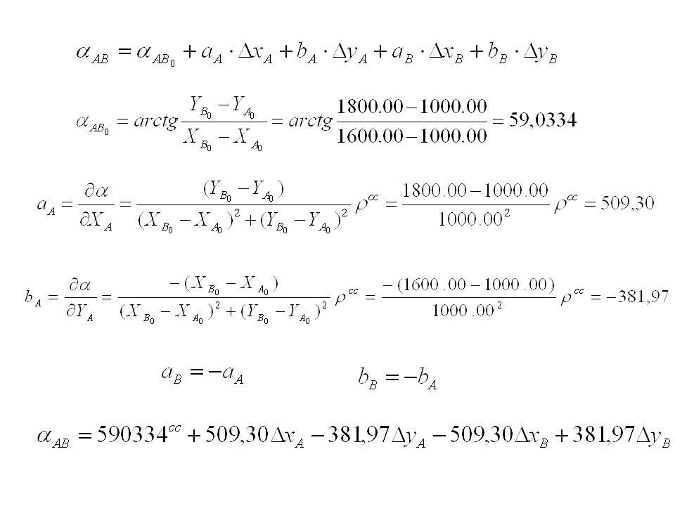 Przykład A B x (1000.00, 1000.00) (1600.00, 1800.00)