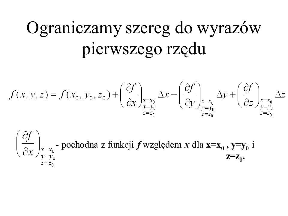 nazywamy resztą Lagrange'a i oznaczamy R n. W powyższym wzorze Szereg Taylora
