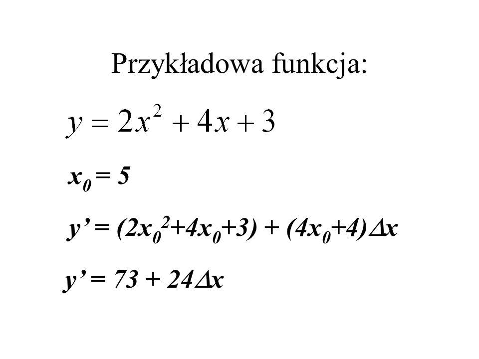Ograniczamy szereg do wyrazów pierwszego rzędu - pochodna z funkcji f względem x dla x=x 0, y=y 0 i z=z 0.