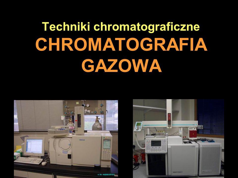 Analiza Tylko w nielicznych przypadkach analiza chromatograficzna może być przeprowadzona w temperaturze otoczenia.