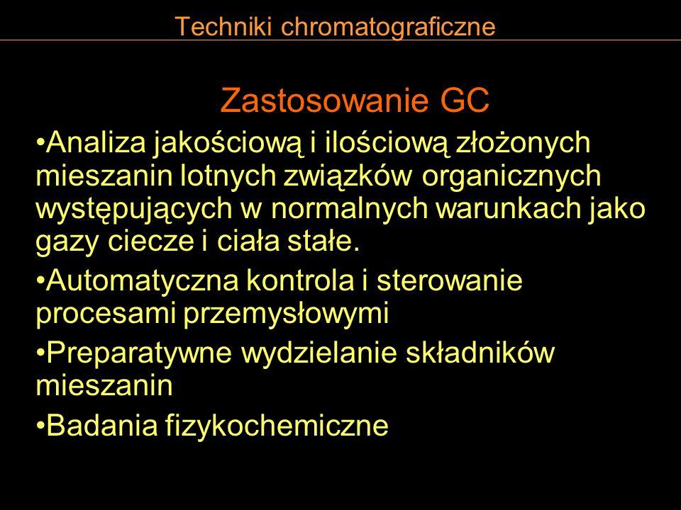 Producenci chromatografów gazowych Agilent Technologies (Hewlett-Packard) Perkin Elmer Varian Carlo Erba Unicam Shimadzu
