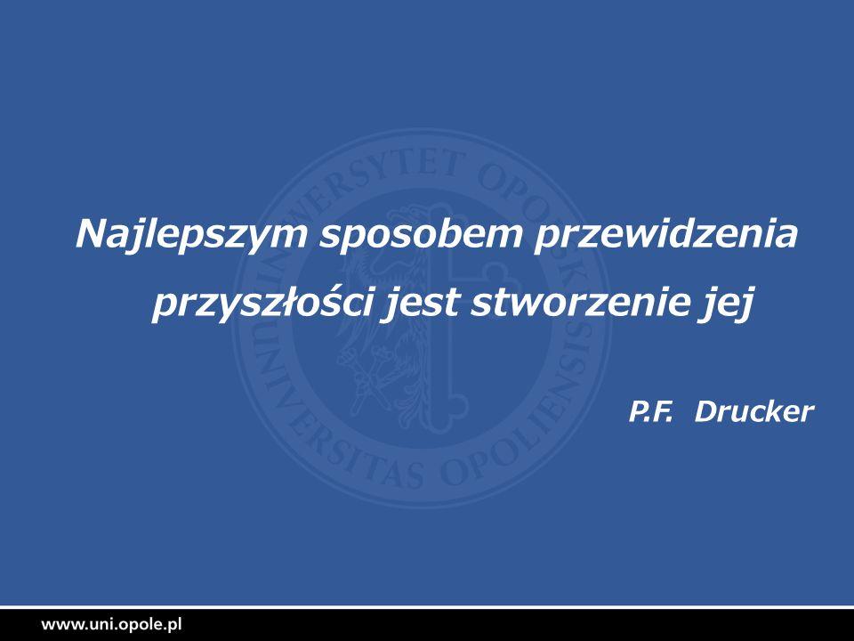 Najlepszym sposobem przewidzenia przyszłości jest stworzenie jej P.F. Drucker