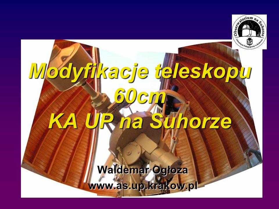 Modyfikacje teleskopu 60cm KA UP na Suhorze Waldemar Ogłoza www.as.up.krakow.pl