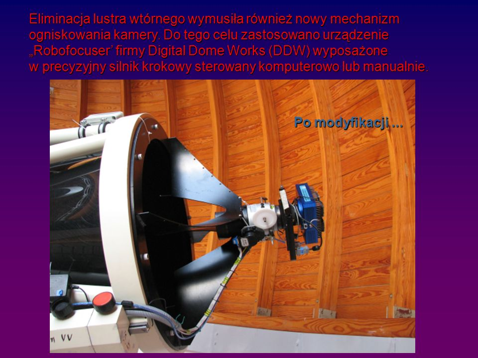 Eliminacja lustra wtórnego wymusiła również nowy mechanizm ogniskowania kamery.
