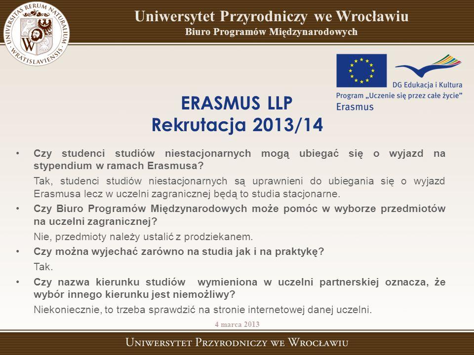 Czy studenci studiów niestacjonarnych mogą ubiegać się o wyjazd na stypendium w ramach Erasmusa? Tak, studenci studiów niestacjonarnych są uprawnieni