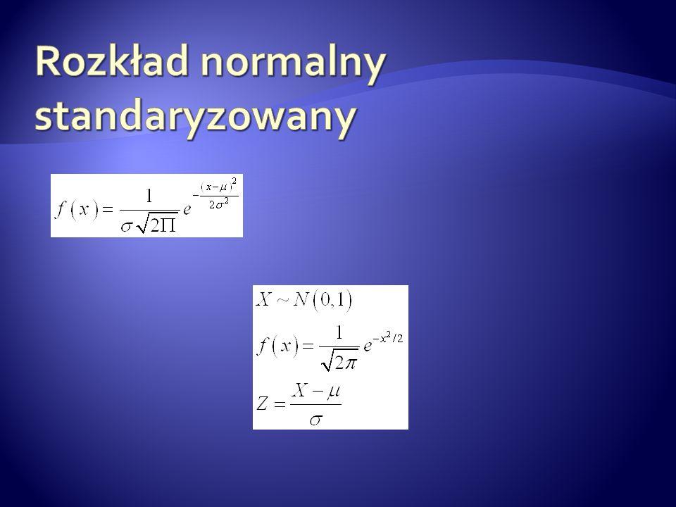 Ustalono, że masa ciała noworodków urodzonych w Polsce w latach 2001-2003 jest zmienną losową o rozkładzie normalnym z wartością oczekiwaną 3,8 kg i wariancją 0,64.