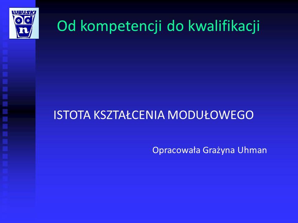 ISTOTA KSZTAŁCENIA MODUŁOWEGO Kształcenie modułowe to 1.Nowe myślenie o edukacji zawodowej 2.Programy nauczania 3.Sposób nauki i pracy uczniów 4.Zadania zawodowe nauczycieli 5.Środki i m ateriały dydaktyczne 6.Organizacja kształcenia 7.Dostosowanie kształcenia w Polsce do standardów europejskich
