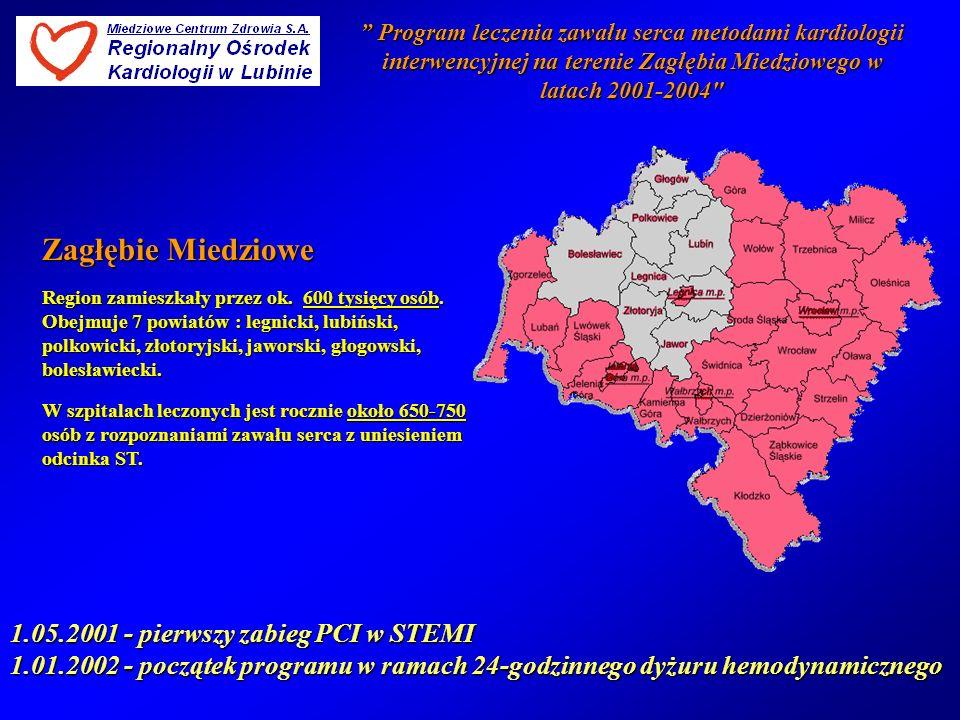 Program leczenia zawału… Program leczenia zawału… 15 km 50 km 40 km.