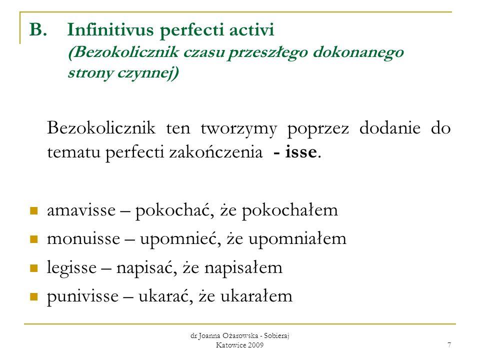 dr Joanna Ożarowska - Sobieraj Katowice 2009 18 honestus, -a, -um – uczciwy, godny magis – bardziej simplicitas, -atis, f.– prostota quam - niż difficultas, -atis, f.