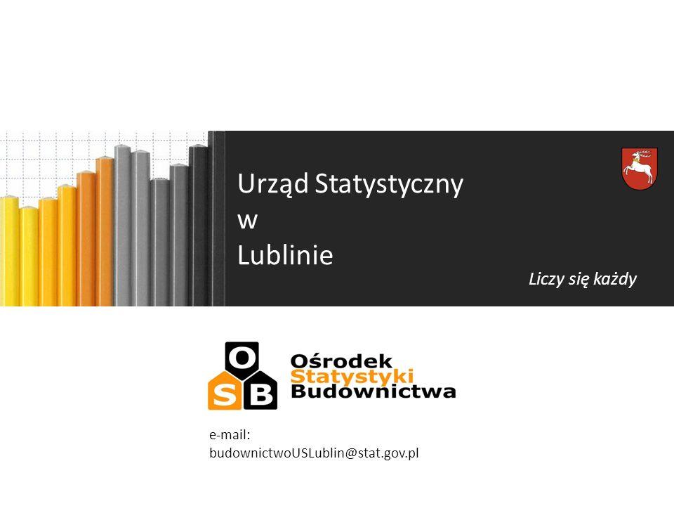 Urząd Statystyczny w Lublinie Liczy się każdy e-mail: budownictwoUSLublin@stat.gov.pl