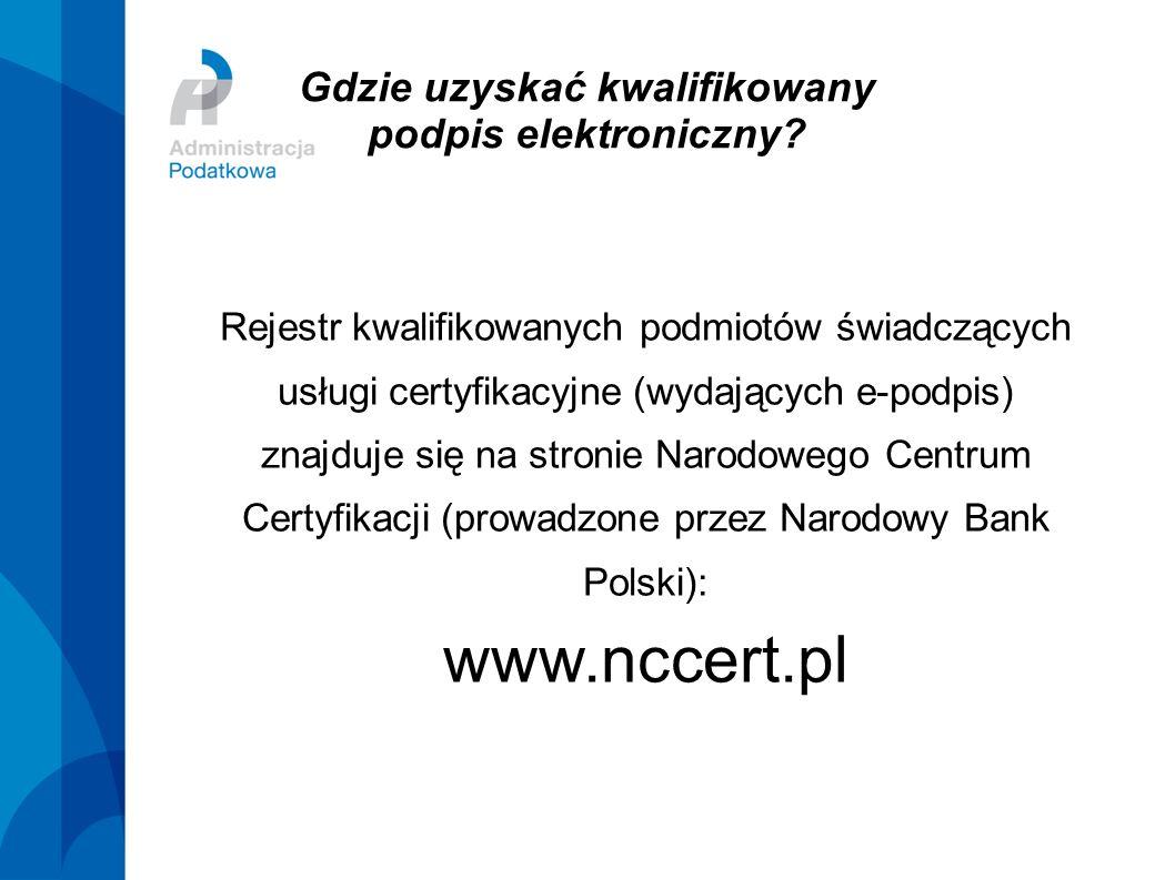 Gdzie uzyskać kwalifikowany podpis elektroniczny? Rejestr kwalifikowanych podmiotów świadczących usługi certyfikacyjne (wydających e-podpis) znajduje