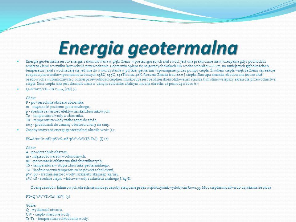 Energia geotermalna Energia geotermalna jest to energia zakumulowana w głębi Ziemi w postaci gorących skał i wód. Jest ona praktycznie niewyczerpalna