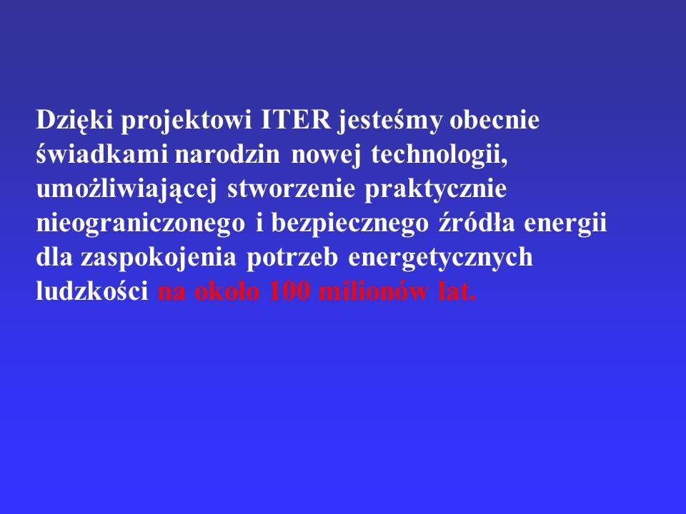 Dzięki projektowi ITER jesteśmy obecnie świadkami narodzin nowej technologii, umożliwiającej stworzenie praktycznie nieograniczonego i bezpiecznego źr