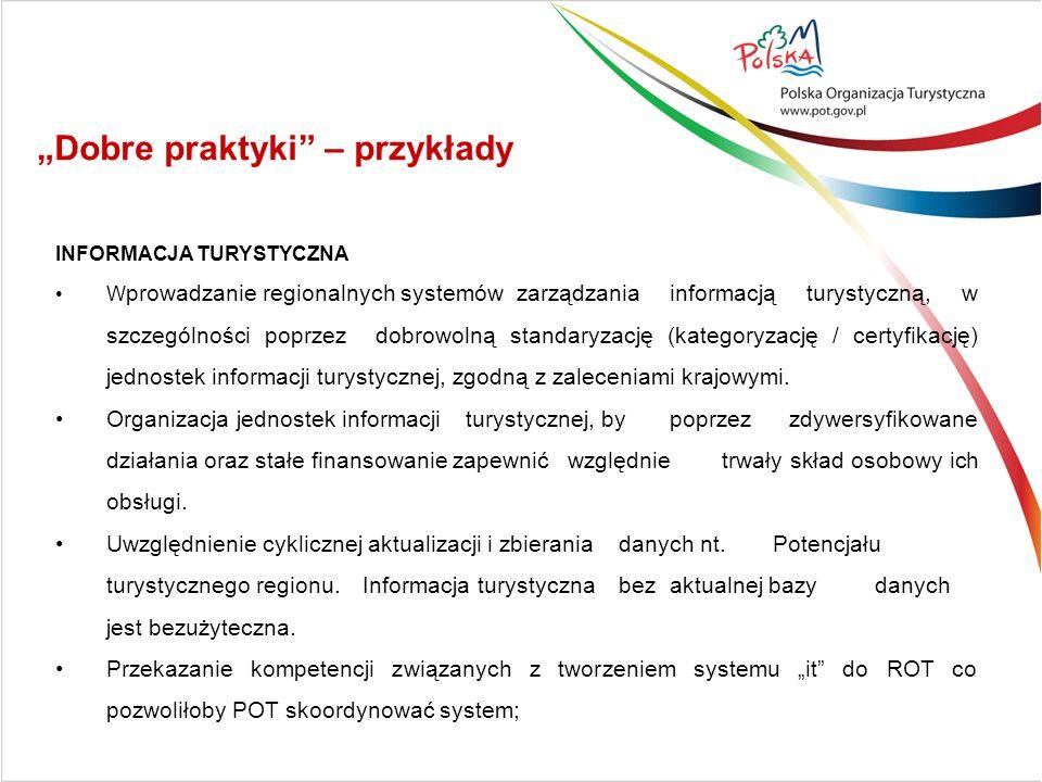 INFORMACJA TURYSTYCZNA W prowadzanie regionalnych systemów zarządzania informacją turystyczną, w szczególności poprzez dobrowolną standaryzację (kateg