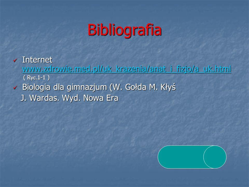 Bibliografia Internet www.zdrowie.med.pl/uk_krazenia/anat_i_fizjo/a_uk.html Internet www.zdrowie.med.pl/uk_krazenia/anat_i_fizjo/a_uk.html www.zdrowie