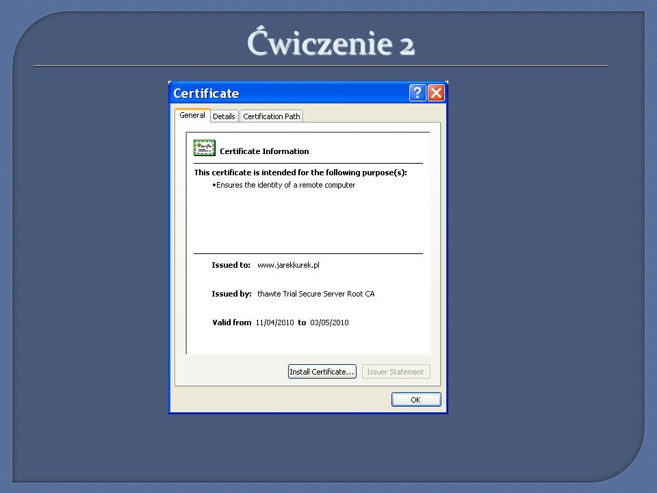 Ćwiczenie 3 Wirtualne hosty: a) Na jednym IP >1 domena np. Wp.pl i onet.pl