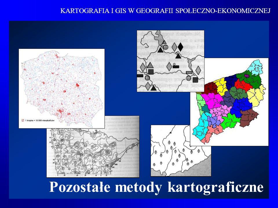 Metoda zasięgów Metoda zasięgów polega na oznaczaniu na mapie obszaru występowania danego zjawiska.