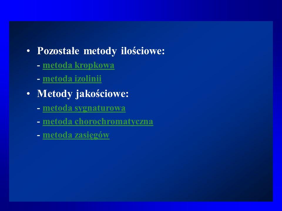 Metoda izolinii > Rodzaje izolinii > Izolinie odchyleń Izolinie odchyleń – mają zastosowanie w każdym z poprzednich trzech rodzajów.