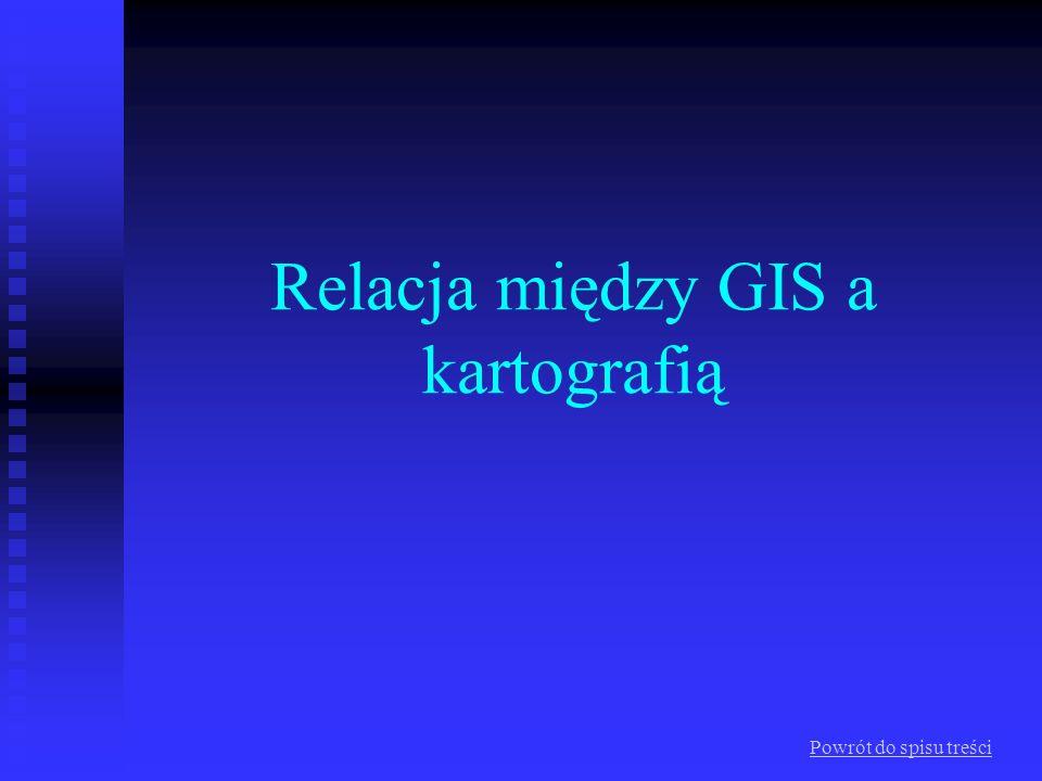 Relacja między GIS a kartografią Powrót do spisu treści