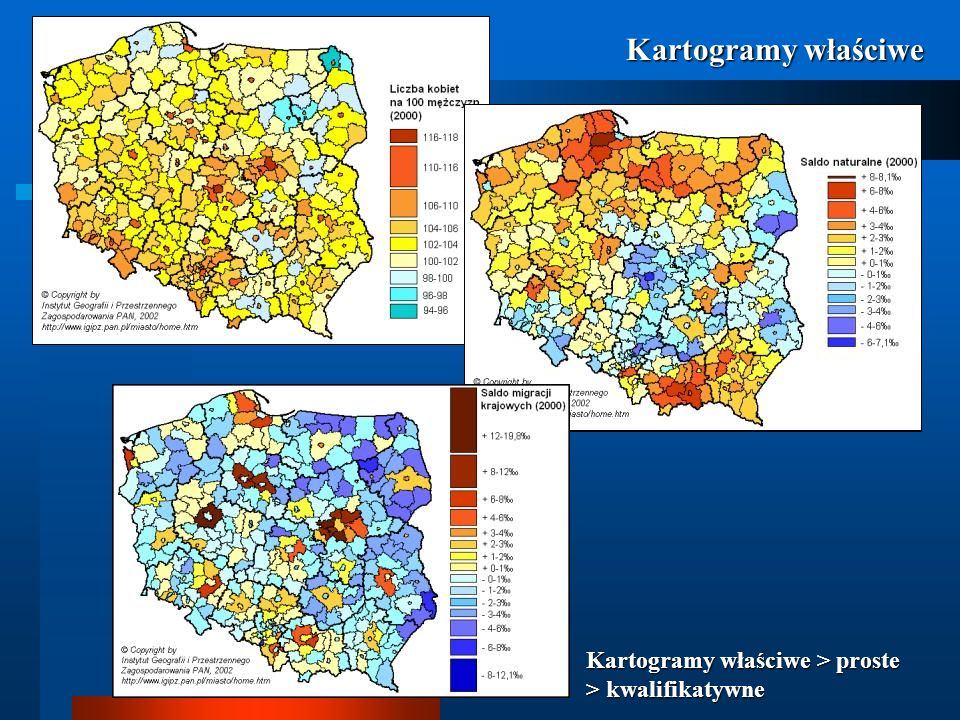 Kartogramy właściwe Kartogramy właściwe > proste > kwalifikatywne