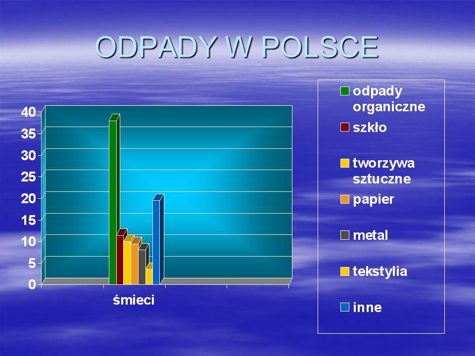 POLSKA W PORÓWNANIU Z INNYMI KRAJAMI Polak wytwarza rocznie ponad 1500 kg odpadów.