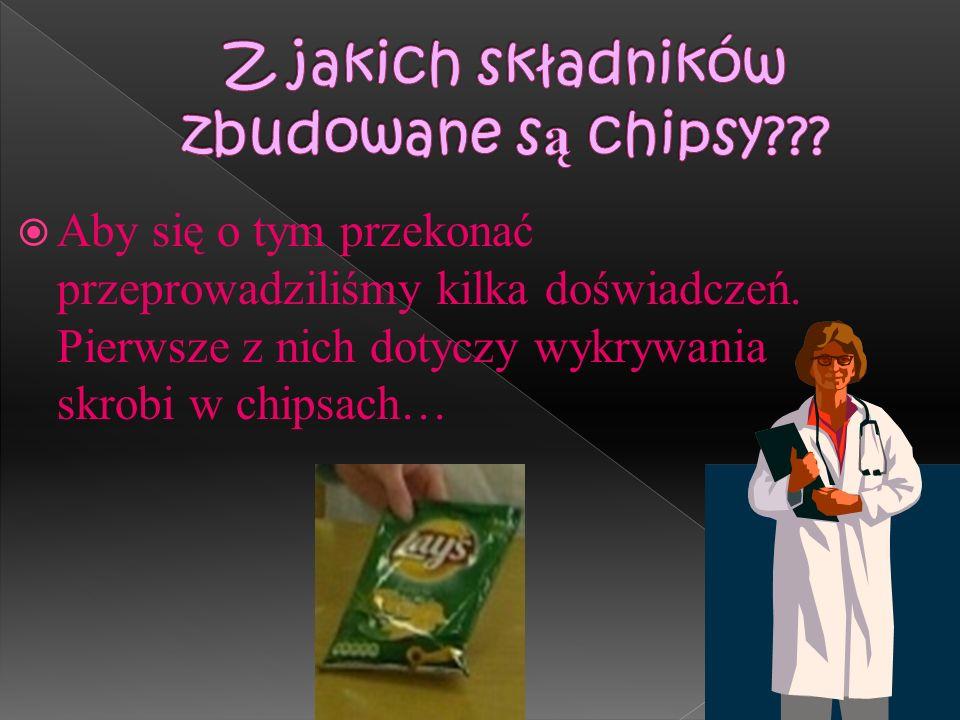 Jak widzimy chipsy są lubiane przez większość osób, gdyż są smaczne. Ale czy na pewno zdrowe???