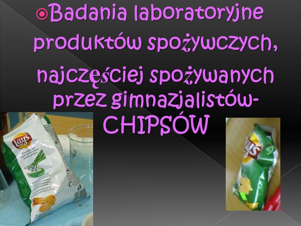 W obu probówkach pojawiło się ceglaste zabarwienie, oznacza to że w chipsach zawarty jest dwucukier, którym jest sacharoza Próba Trommera dla sacharozy, dla której wcześniej przeprowadzono reakcję hydrolizy Chipsy, które wcześniej poddano reakcji hydrolizy a następnie wykonano dla takiej próbki próbę Trommera