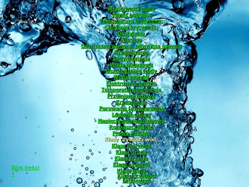 Właściwości wody Właściwości wody Temperatura topnienia pod ciśnieniem 1 atm: 0°C = 273,15 K Temperatura wrzenia pod ciśnieniem 1 atm: 100°C = 373,15 K Temperatura wrzenia pod ciśnieniem 1 atm: 100°C = 373,15 K Gęstość w temperaturze 4°C= 1 kg/l.