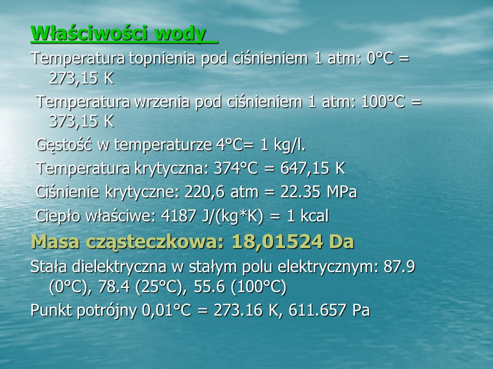 Punkt potrójny Punkt potrójny : jest to stan w jakim dana substancja może istnieć w trzech stanach skupienia równocześnie w równowadze termodynamicznej.