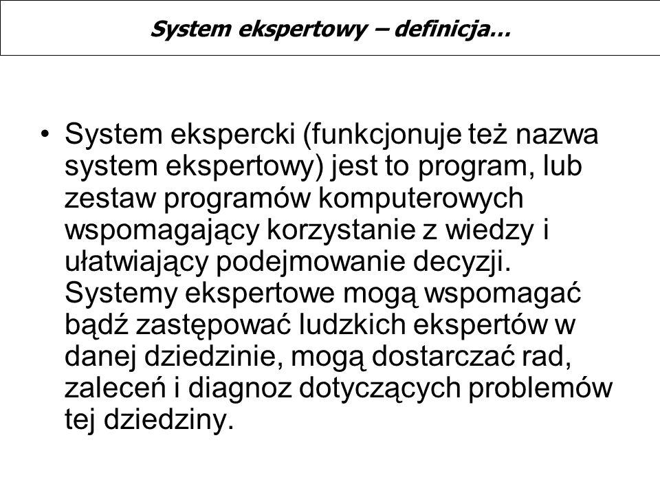 System ekspercki (funkcjonuje też nazwa system ekspertowy) jest to program, lub zestaw programów komputerowych wspomagający korzystanie z wiedzy i uła