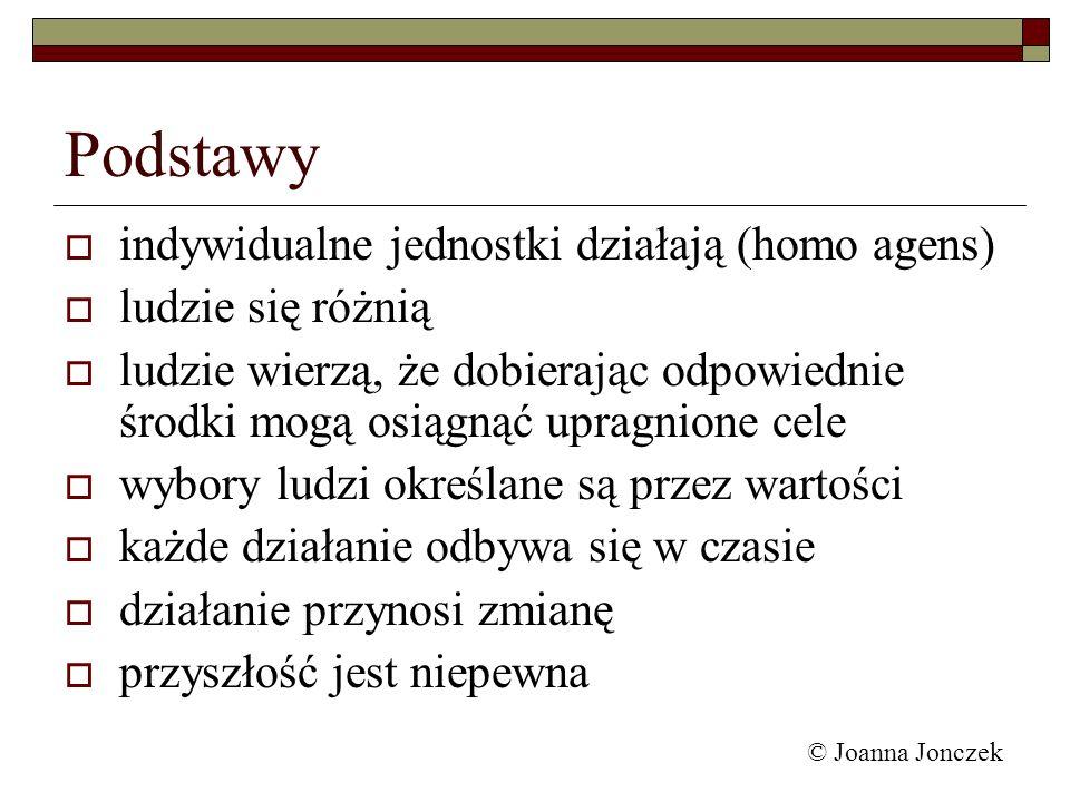 © Joanna Jonczek Dziedziny polityki gospodarczej zgodnie z podziałem ekonomii mikroekonomiczne, makroekonomiczne rozwoju społeczno – gospodarczego wzrostu, strukturalna, regionalna, ekologiczna wg kryterium przedmiotowego (sektorowe) przemysłowa, rolna, handlowa, komunikacyjna, komunalna, społeczna wg kryterium instrumentacji pieniężna, emisyjna i kredytowa, budżetowa, podatkowa, celna, zatrudnienia, inwestycyjna, lokalizacyjna, cenowo –dochodowa, warunkowa i innowacyjna … polityki
