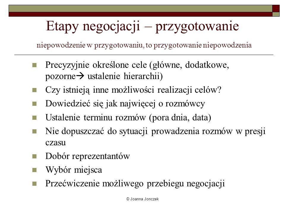 © Joanna Jonczek Ergonomia i proksemika… czyli co o negocjatorach mówi miejsce..
