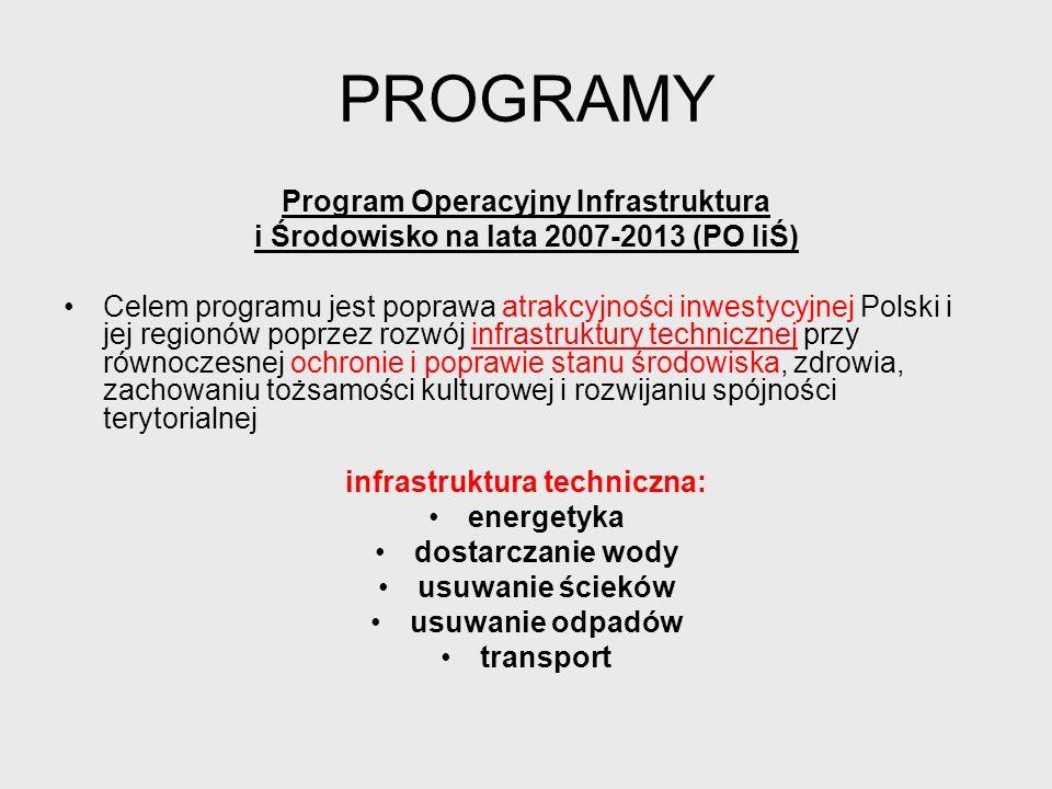 PROGRAMY Program Operacyjny Kapitał Ludzki (PO KL) Wszystkie działania realizowane w ramach tego PO mają wpływać na zwiększenie konkurencyjności gospodarki opartej na wiedzy i przedsiębiorczości.