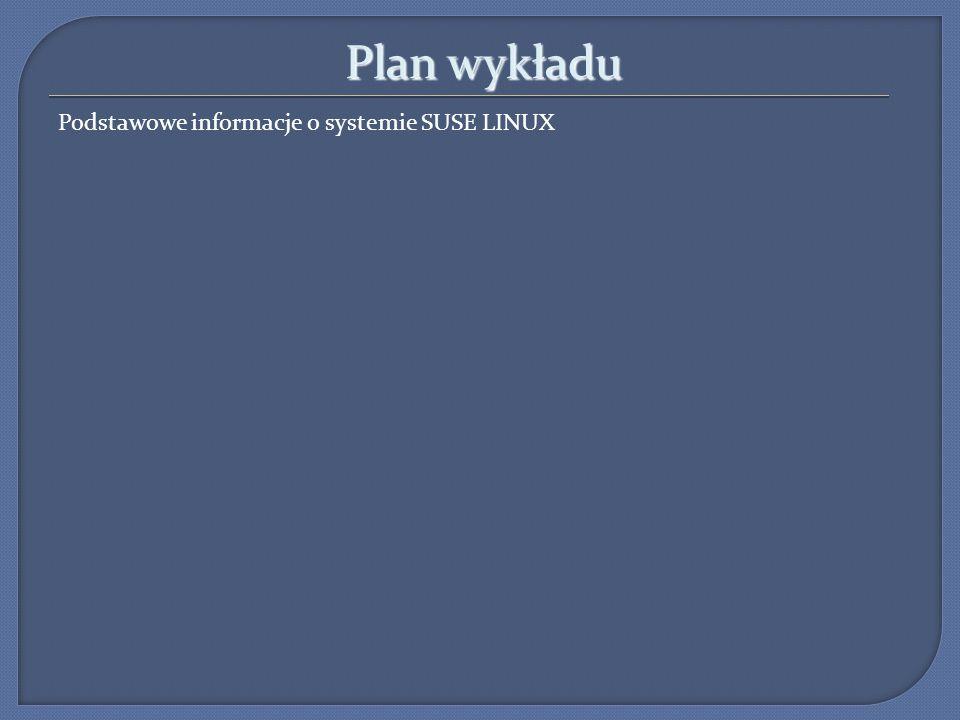 Podstawowe informacje SuSE SLES SuSE Linux (niem.