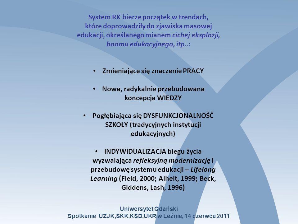 System RK - element Procesu Bolońskiego Proces Boloński – próba rozwiązania, a nie generowania problemów związanych z cichą eksplozją (m.in.