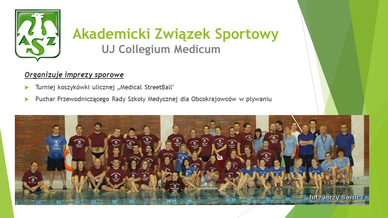 Akademicki Związek Sportowy UJ Collegium Medicum Organizuje imprezy sporowe Turniej koszykówki ulicznej Medical StreetBall