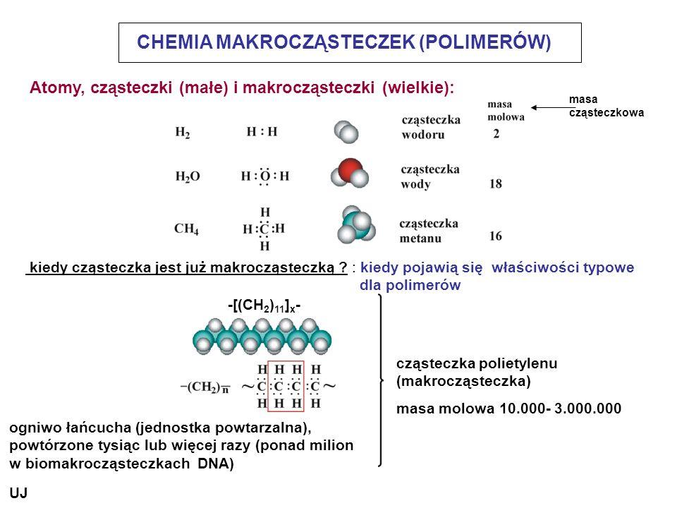 CHEMIA MAKROCZĄSTECZEK (POLIMERÓW) kiedy cząsteczka jest już makrocząsteczką ? : kiedy pojawią się właściwości typowe dla polimerów cząsteczka poliety