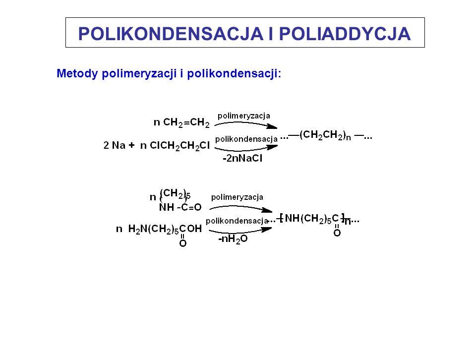 Metody polimeryzacji i polikondensacji: POLIKONDENSACJA I POLIADDYCJA