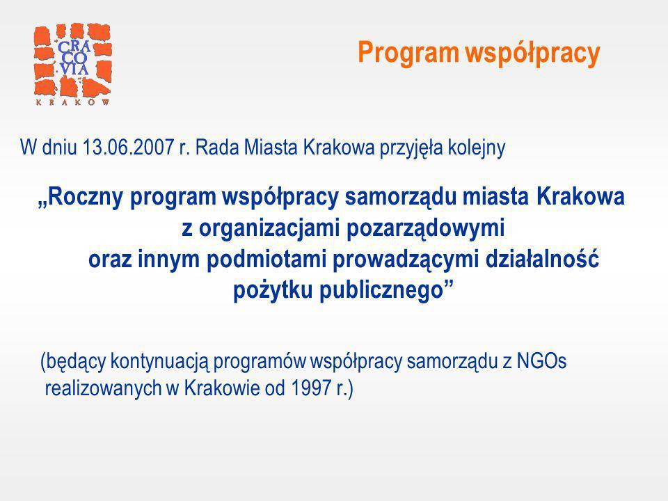 Program współpracy W dniu 13.06.2007 r.