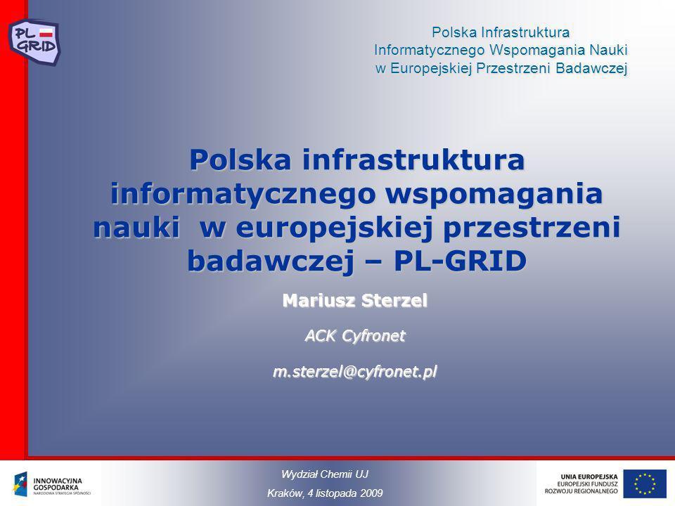 Polska Infrastruktura Informatycznego Wspomagania Nauki w Europejskiej Przestrzeni Badawczej Polska infrastruktura informatycznego wspomagania nauki w