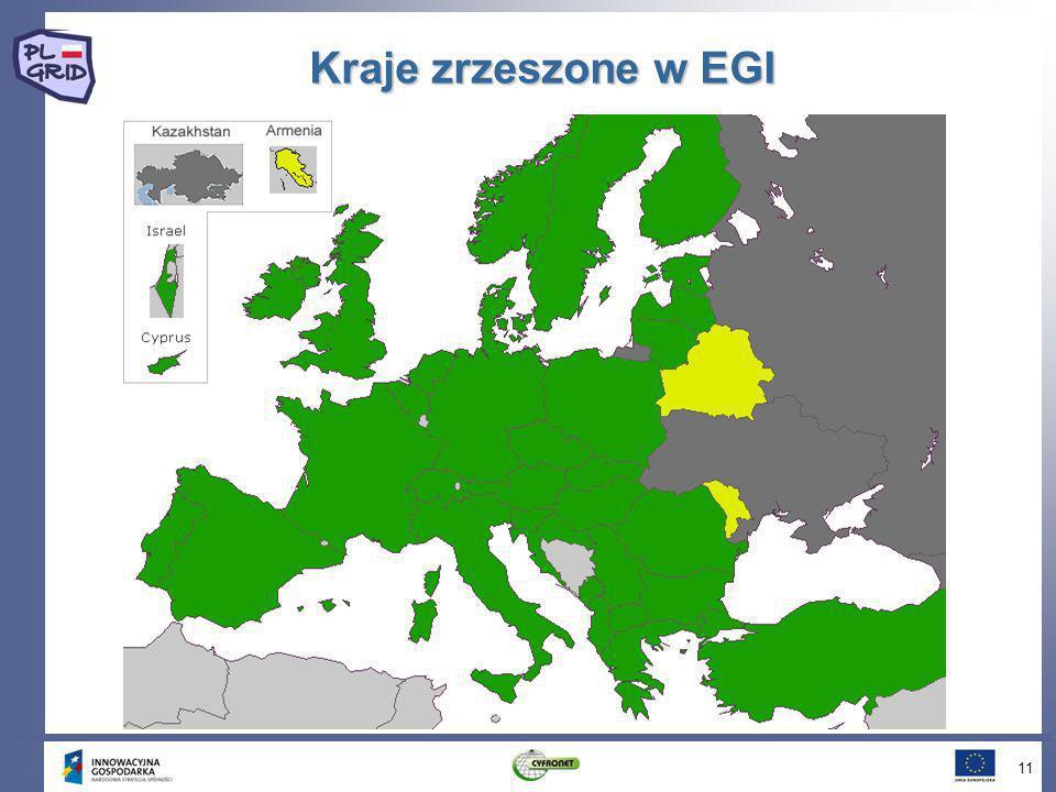 Kraje zrzeszone w EGI 11