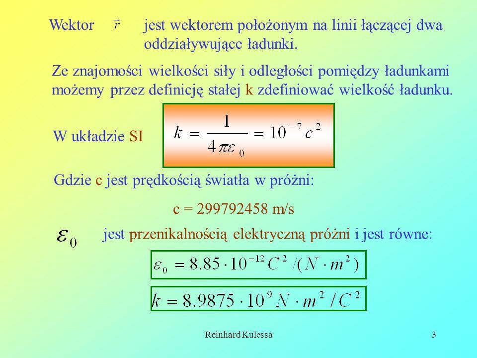 Reinhard Kulessa14 Ponieważ E 1/r 2, stąd wynika, że E=E 0 (r 0 /r) 2.