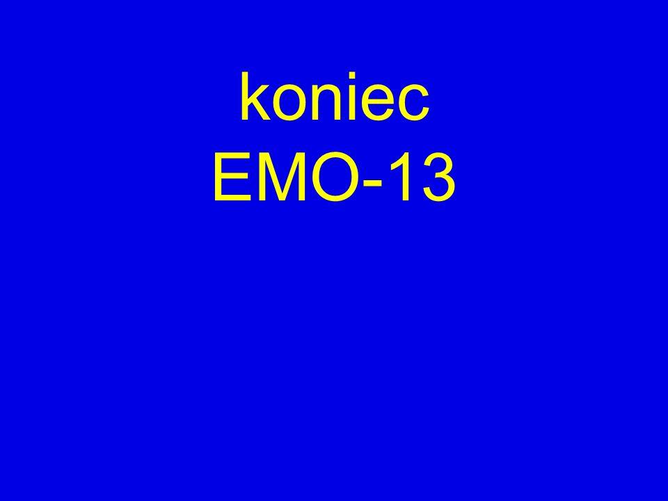 koniec EMO-13