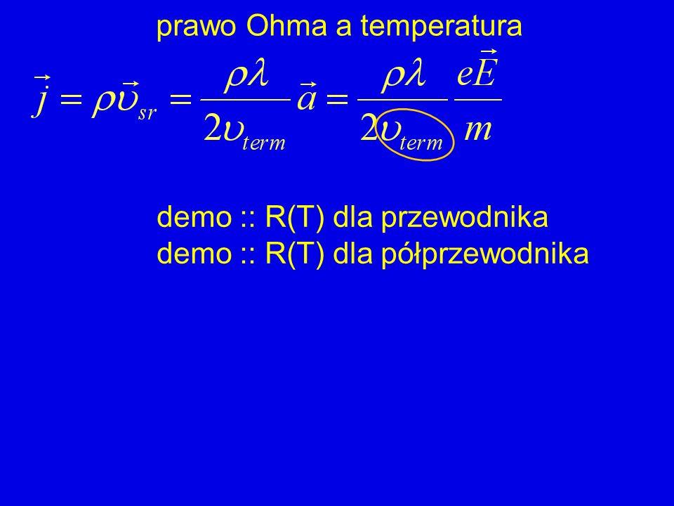 prawo Ohma a temperatura demo :: R(T) dla przewodnika demo :: R(T) dla półprzewodnika