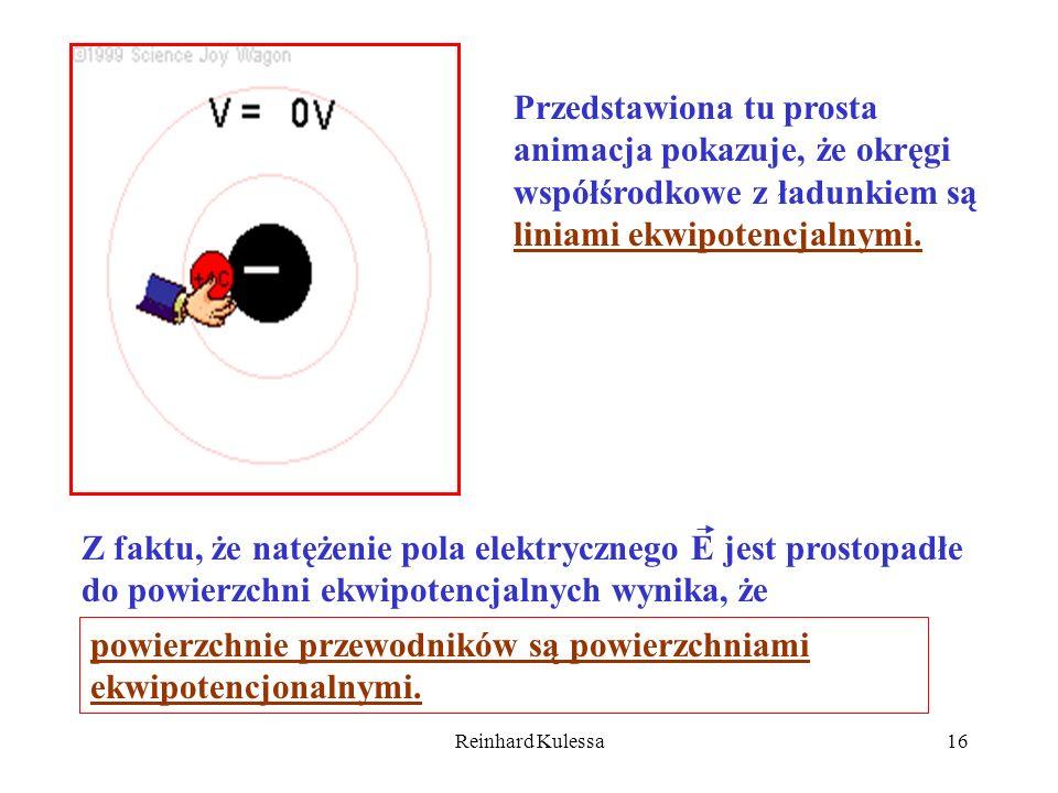 Reinhard Kulessa16 Przedstawiona tu prosta animacja pokazuje, że okręgi współśrodkowe z ładunkiem są liniami ekwipotencjalnymi. Z faktu, że natężenie